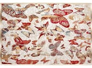 Rectangular silk rug BUTTERFLY - ITALY DREAM DESIGN - Kallisté