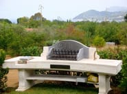 Travertine barbecue Barbecue 1 - Garden House Lazzerini
