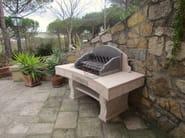 Travertine barbecue Barbecue 3 - Garden House Lazzerini