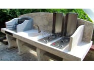 Travertine barbecue Barbecue 5 - Garden House Lazzerini