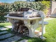 Travertine barbecue Barbecue 9 - Garden House Lazzerini