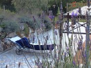 Wrought iron garden daybed Beach lounger 2 - Garden House Lazzerini