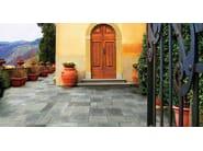 Outdoor floor tiles with stone effect Benacus® PIETRA LAVICA - FERRARI BK