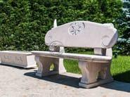 Natural stone Bench Bench 3 - Garden House Lazzerini