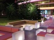 Polyethylene garden armchair with light BRISA MODULAR CORNER - Lamalva