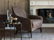 Upholstered leather easy chair with armrests CÉLINE - ALIVAR