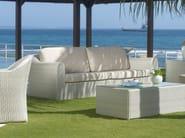 Divano da giardino in polietilene a 2 posti CALDERAN 21112 - SKYLINE design