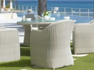 Tavolo da giardino rotondo in polietilene CALDERAN 21121 - SKYLINE design
