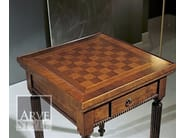 Square solid wood poker table CANALETTO | Poker table - Arvestyle