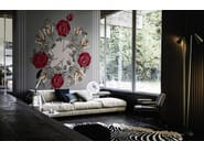 Wallpaper with floral pattern CANVAS BOUQUET - Wall&decò