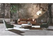Leather armchair with headrest CAROL - ALIVAR