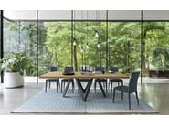 Rectangular wood veneer table CARTESIO - Calligaris