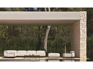Rectangular wooden garden side table CASILDA | Rectangular coffee table - Talenti