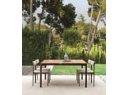 Rectangular wooden garden table CASILDA | Rectangular table - Talenti
