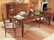 Sedia in legno massello con schienale aperto CAVOUR | Sedia con braccioli - Arvestyle