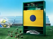 Tailor made TV-stand and bookcase bespoke design - Football Collection - Modenese Gastone