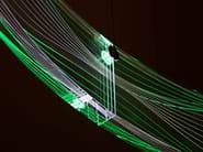LED RGB acrylic glass pendant lamp CERN - Sattler