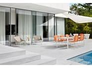 Fabric garden armchair CHAPEAU | Armchair - Varaschin