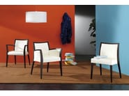 Fabric easy chair with armrests CHAS | Easy chair - CIZETA