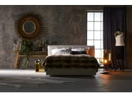 Double bed with removable cover with upholstered headboard CHILL - Schramm Werkstätten