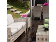 Tavolino basso da caffè da giardino CIELO 23105 - SKYLINE design