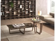 Low wood veneer coffee table CITY | Square coffee table - Pacini & Cappellini