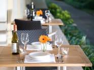 Tavolino alto quadrato in acciaio e legno CITYSCAPE | Tavolino alto - 7OCEANS DESIGNS