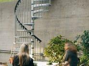Outdoor galvanized steel Spiral staircase CIVIK ZINK - Fontanot Spa