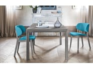 Upholstered fabric chair CLAIRE - Calligaris