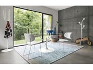 Upholstered leather chair CLAIRE M - Calligaris