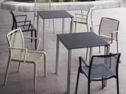 Square Compactop® garden table CLARO - GABER