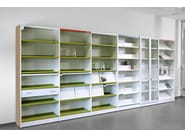 Modular aluminium and wood office shelving CLASS - ACTIU