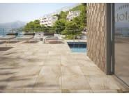 Indoor/outdoor porcelain stoneware flooring with stone effect CLASS - Ceramica Rondine