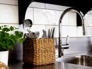 Stainless steel kitchen mixer tap with pull out spray CLASSIC LINE CL-210 - Nivito