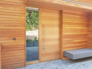 Custom wooden entry door CLIMA 72 - Alpilegno