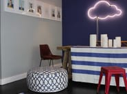 Wall-mounted neon light installation CLOUD 9 - Sygns