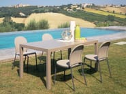 Extending steel garden table CLOUD | Extending table - Talenti