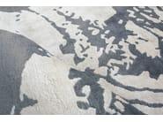 Patterned handmade rectangular rug COAST LINE ANTHRACITE - EDITION BOUGAINVILLE