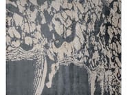 Patterned handmade rectangular rug COAST LINE ANTHRACITE - EDITION BOUGAINVILLE