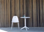 Folding round aluminium garden table COLLINS - Joli