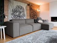 Sectional 2 seater fabric sofa with removable cover COMFORT | Sectional sofa - Dall'Agnese
