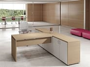 Rectangular melamine-faced chipboard workstation desk COMPACT C18A - Arcadia Componibili - Gruppo Penta