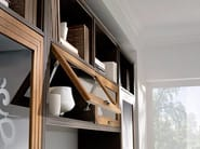 Parete attrezzata autoportante in legno massello con porta tv COMPOSITE | Parete attrezzata - Arvestyle