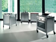 Stainless steel kitchen unit with casters COMPOSIZIONE CUCINA 70 | Kitchen unit with casters - ALPES-INOX