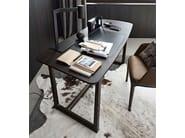 Wooden writing desk CONCORDE | Writing desk - Poliform