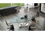 Oval crystal table CORAL - Cattelan Italia