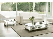 Low coffee table with storage space CORALLO | Rectangular coffee table - Pacini & Cappellini