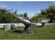 Polyester garden armchair CORDULA | Polyester easy chair - MissoniHome