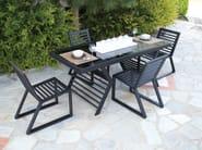 Sled base aluminium garden chair CORNER | Aluminium garden chair - Efasma