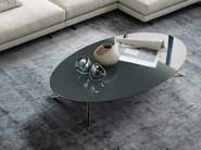 Low oval round marble coffee table COSMOS | Oval coffee table - Poliform